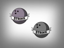 """Дизайн логотипа клуба боулинга """"Strike"""""""