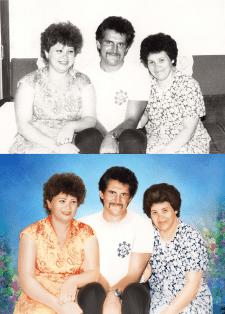 Реставрация фото, покраска