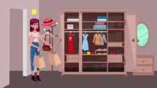 2D анимация о ненужной одежде, благотворительности