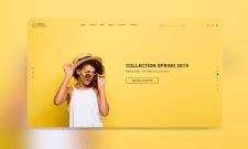 Landing page для магазина одежды Capella
