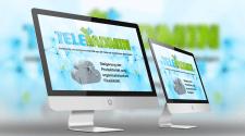 Одностраничный сайт и лого для сисадмина