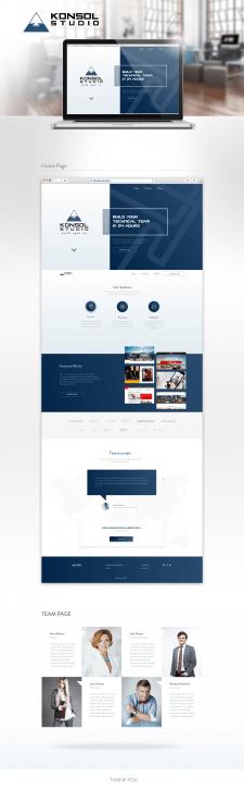 Редизайн сайта для студии Konsol