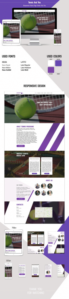 Responsive Home Page Tennis And You
