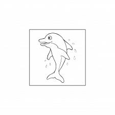 раскраски для детей - дельфин