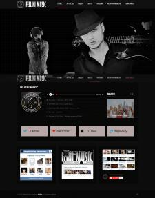 Сайт для музыкальной компании Fellini Music