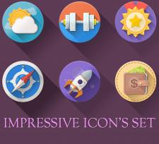 Красочный сет иконок / Impressive bright icons set