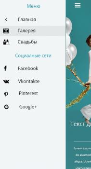 Мобильная версия сайта (меню)