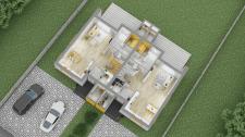 3D планировка дома 1 этаж