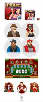Персонажи и элементы игрового интерфейса