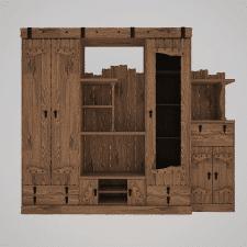 дизайн стенки в деревенском стиле