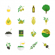 Иконки на тему оливкового масла