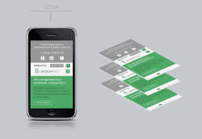Адаптация готового дизайна под мобильный,экран 320
