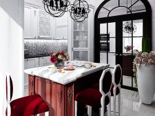 Кухня в частном доме. Современная классика