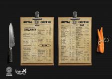 Дизайн меню и бара для кафе