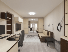 Дизайн проект 1-комн. квартиры в Харькове