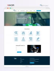 Дизайн главной для сайта научной лаборатории