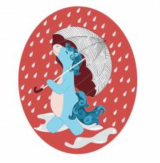 Конячка під парасолькою