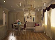 гостиная-студия в классическом изяществе