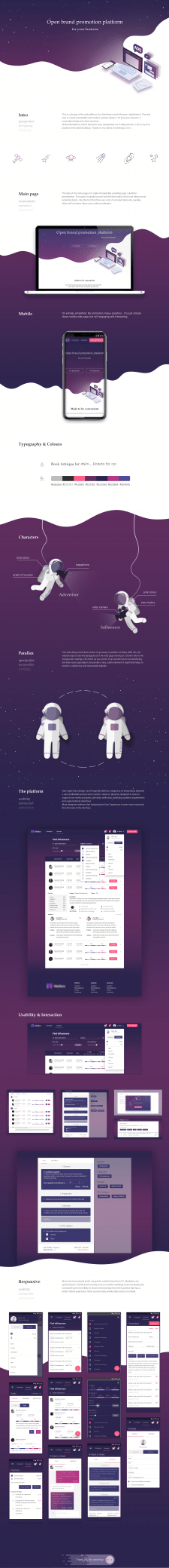 Design, UI/UX of web platform