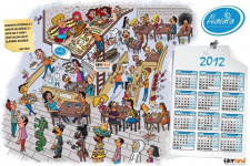 Дизайн календаря для Alavara
