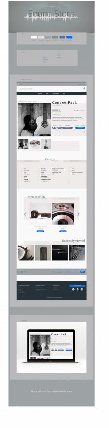 дизайн продуктовой страницы сайта