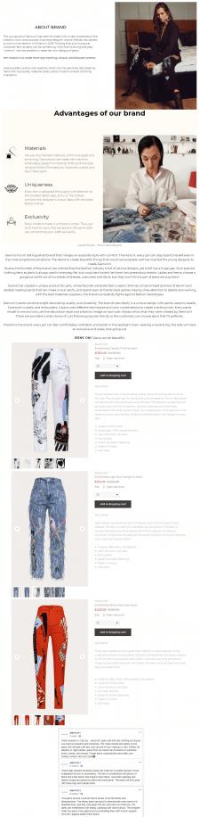 CLOTHES, EN | Дизайнерские джинсы Jeens'on1