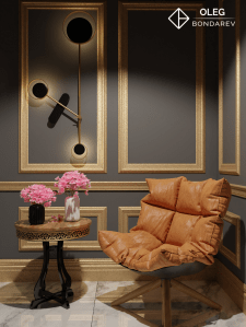 Оранжевое кресло ночь