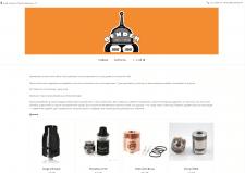 Сайт визитка для магазина электронных сигарет