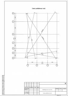 АС. Лист 3. Схема разбивочных осей