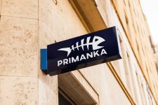 Логотип для рыболовного магазина Primanka