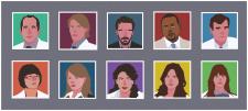 Векторные портреты по сериалу