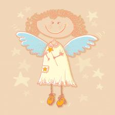 Ангелочек. Открытка