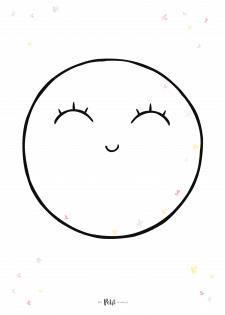 "Презентационный постер наклеек ""MOON-GIRL SMILE"""