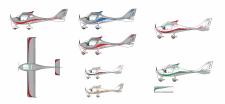 варианты дизайна самолета
