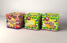 Дизайн серии упаковок фейерверка