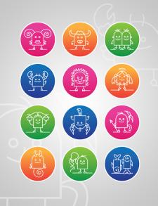 Иконки для сайта, знаки зодиака (2012)