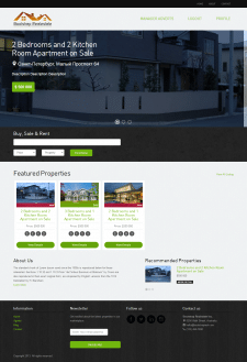 Сайт по продаже квартир на Yii2