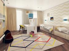 Визуализация интерьера квартиры в совр. стиле