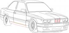 Иллюстрация контуры