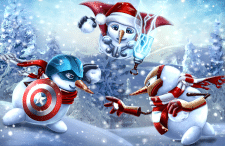 Avengers snowmen