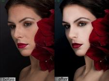 Пример ретуши портрета