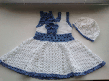 Комплект Платье для девочки и панамка