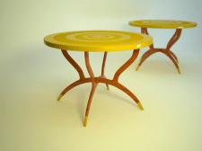 3Д столик круглый в позолоте