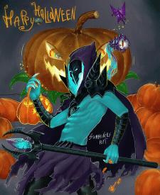 Хеллоуинская работа