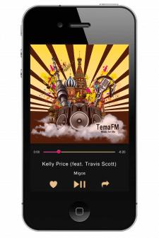 Интерфейс для мобильного приложения Tema FM