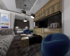 Проект однокімнатної квартири 45м.кв