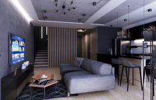 Дизайн интерьера двухуровневой квартири Лофт