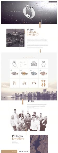 Дизайн сайта ювелирного бренда Palladio