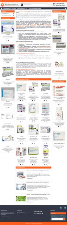 Оптимизация сайта справочника лекарств из Израиля