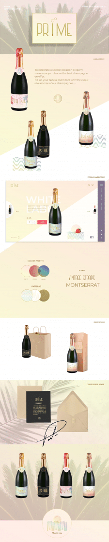 Packaging, Labels Design for Prime wines